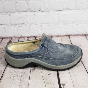 LL Bean Sunwashed Canvas Blue Womens 7 Wide Shoes